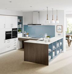 Multi-generational 4G wheelchair accessible kitchen by Adam Thomas Consultancy for Symphony's Freedom range of furniture.