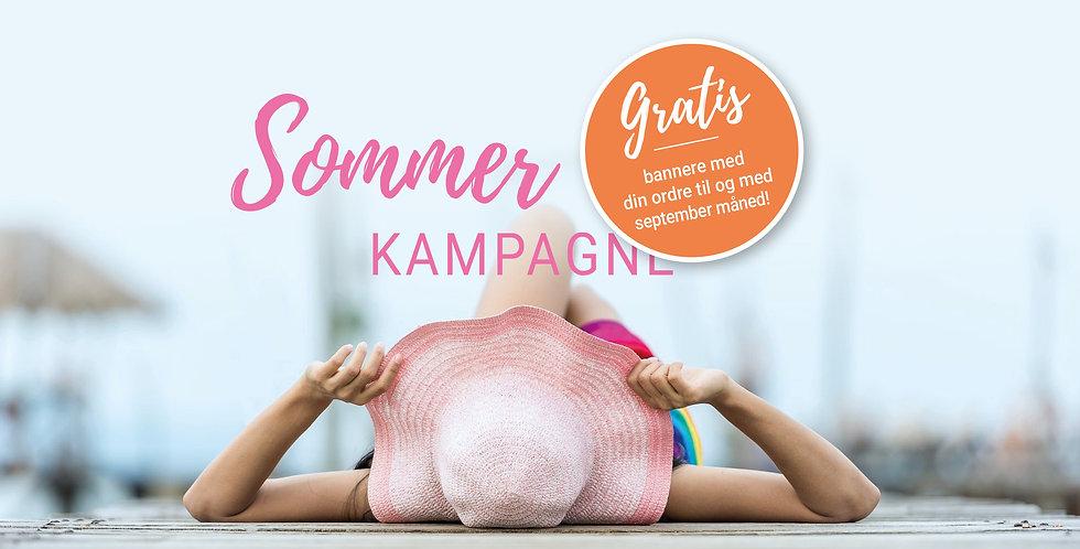 Sommerkampagne med gratis bannere til din ordre.