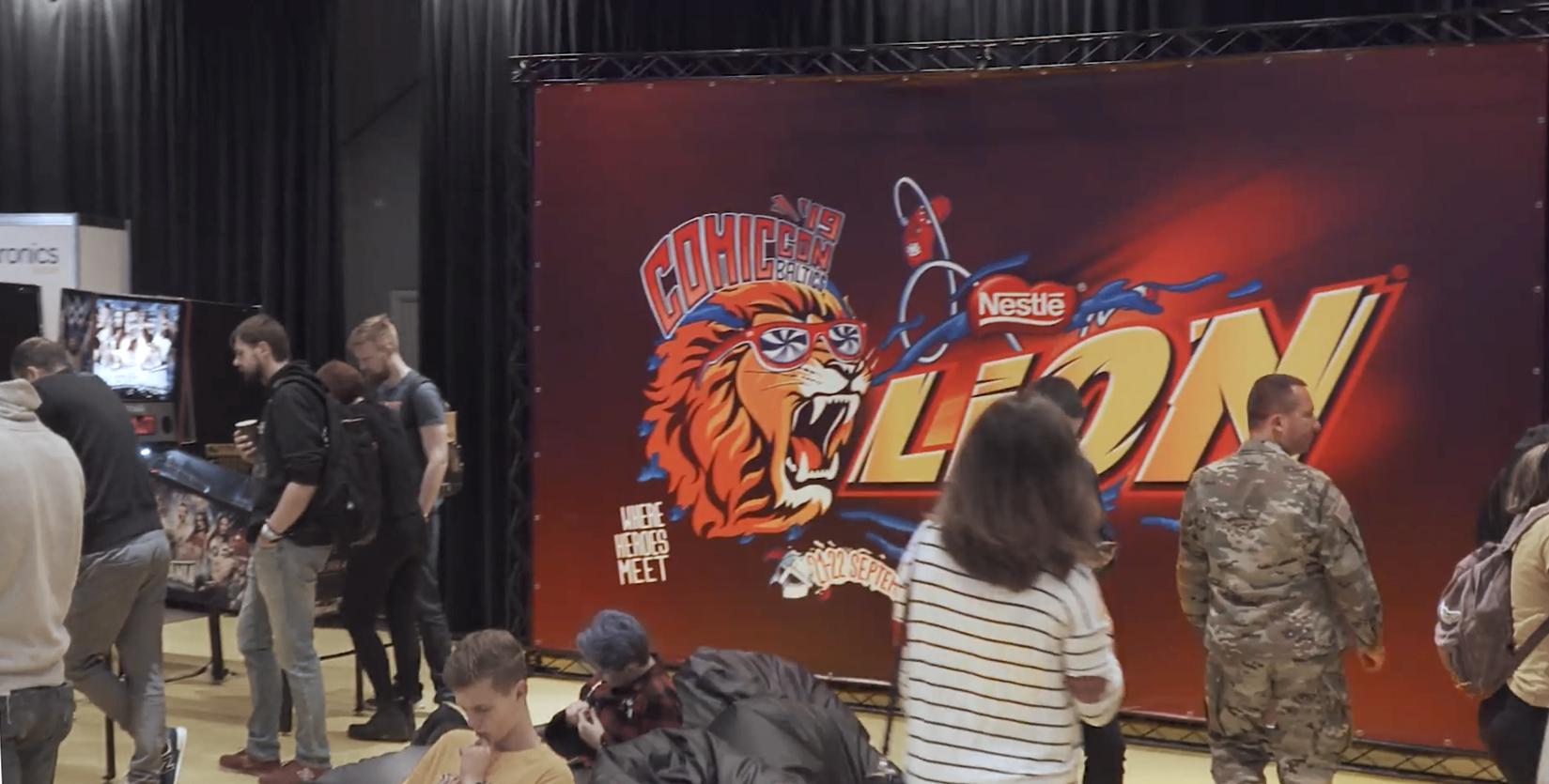 EXPOwire X-15 Comic Con Lion