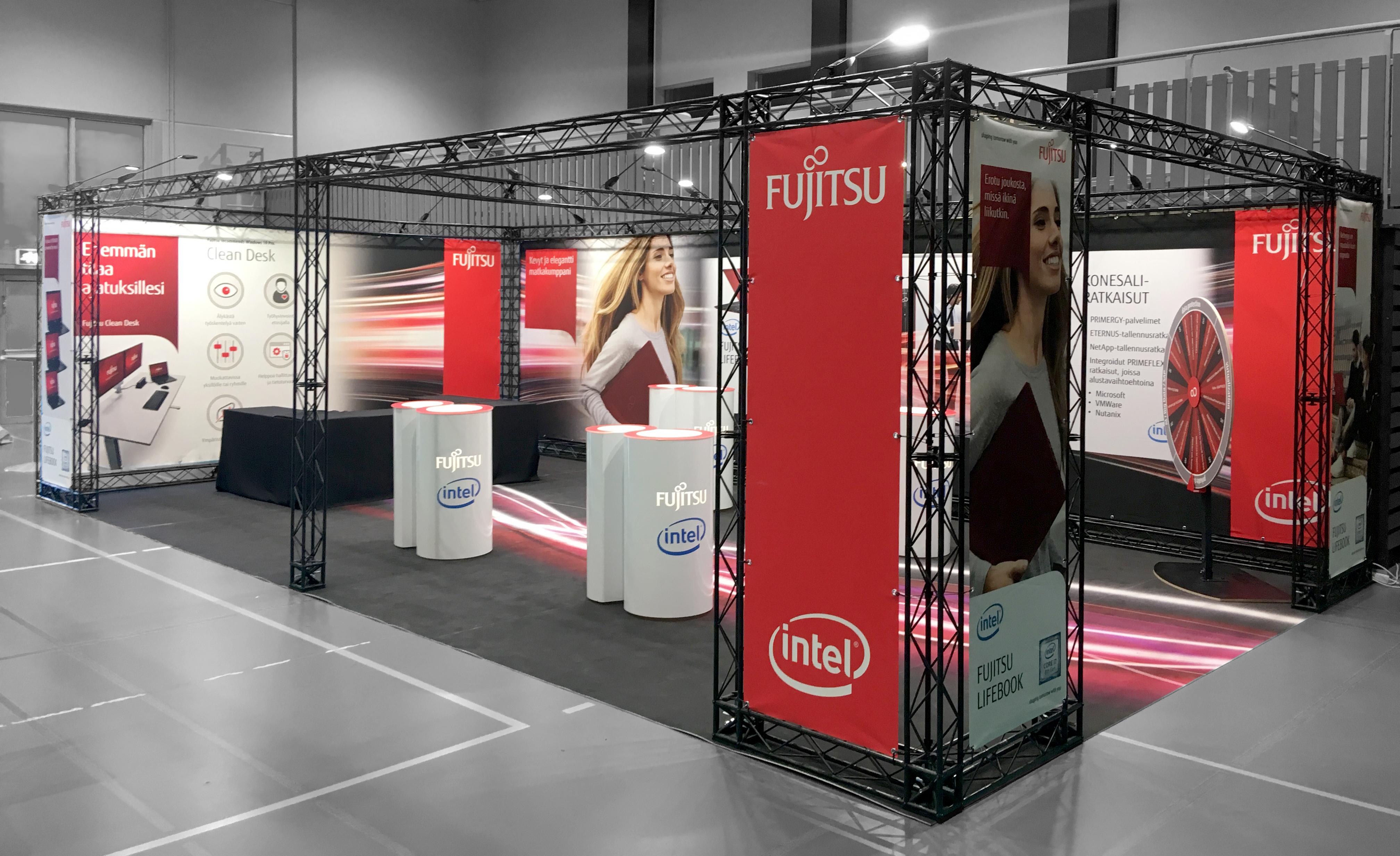 EXPOwire X-15 Fujitsu exhibition