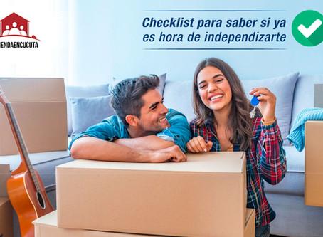 Checklist para saber si ya es hora de independizarte