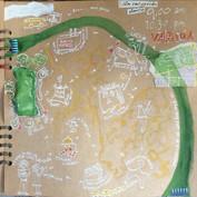 Pagina uit reisboek.