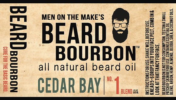 BEARD BOURBON® | CEDAR BAY 1 OZ BOTTLE