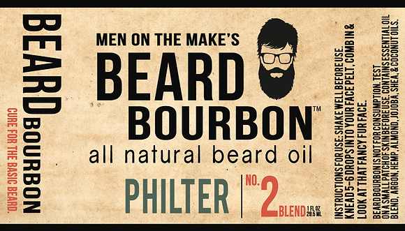 BEARD BOURBON® | PHILTER 1 OZ. BOTTLE