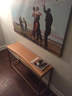 Oak Sofa/ Hall Table