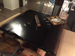 Square Ebony Walnut Table