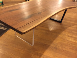 Book match walnut table
