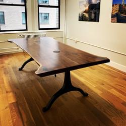 Book match walnut table
