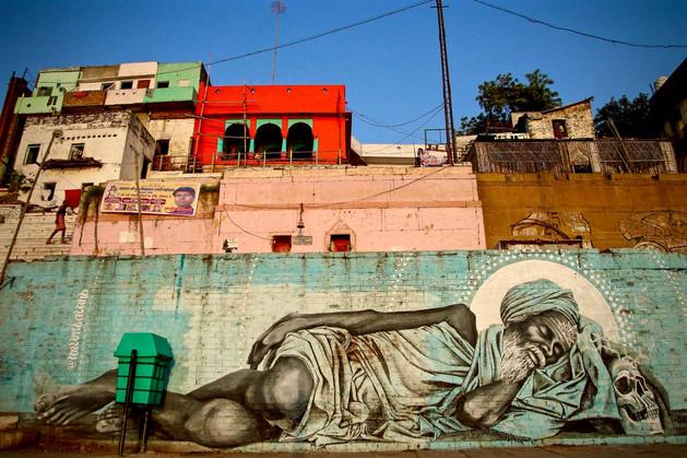India Varanasi Graffiti