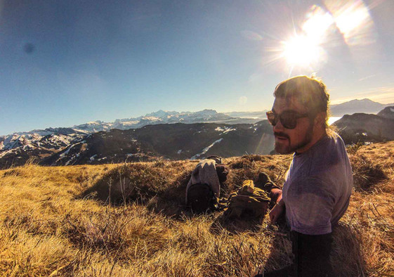 Hiking the ski fields of the French Alps, waiting for the snow to arrive!