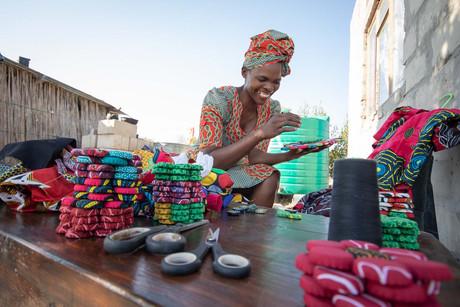 Traditional Seamstress in Botswana