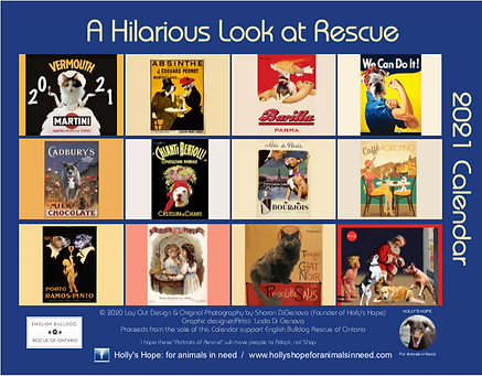 Vintage ads and rescue animals calendar 2021