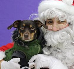 Look! I am with santa!