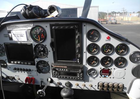 MAC Tecnam cockpit
