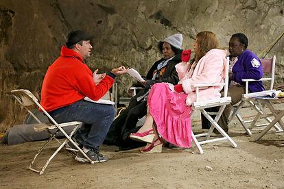 "Dan Steadman directs the four Golden Girls - esque stars of ""The Racket"""