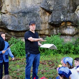 "Dan Steadman directing kids at the mine in ""The Racket"""