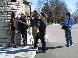 Dan Steadman directs a scene in Crystal City, Missouri