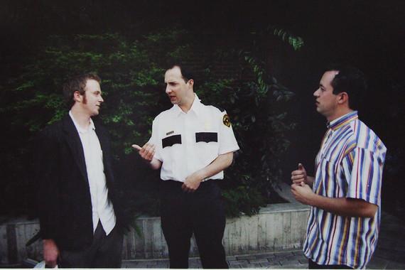 Dan with Tony Hale and Gareth Reynolds.J