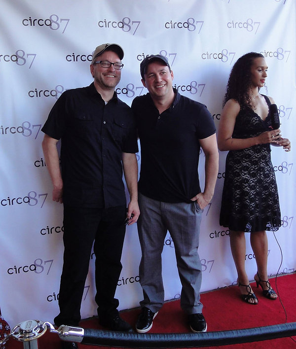 Dan Steadman and Rodney C. Wilson on red carpet