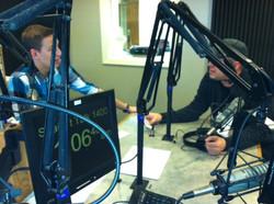 Dan Steadman promotes Somewhere Between Arnold & Festus at Festus Radio