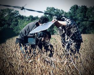 Filming in a field in Belleville.jpg