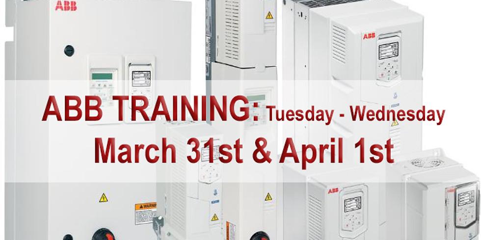 ABB ACH580 Training (Tuesday/Wednesday training)