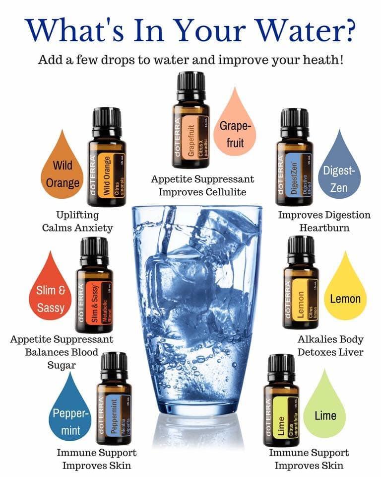 DoTERRA Öle können mit Trinkwasser gemis