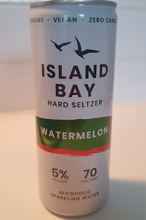 Island Bay, Hard Seltzer. Watermelon (vegan).