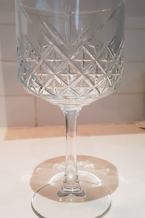 19 1/4 oz Vintage Cut Glass Gin Goblet.
