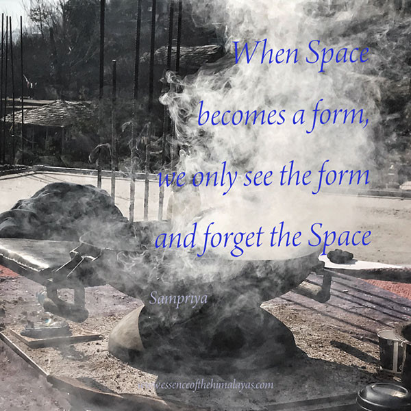 Online Meditation Training/Meditation Quote: When Space become a form, we only see the form and forget the Space
