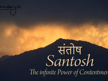 Meditation opens the door to Santosh - the infinite Power of Contentment