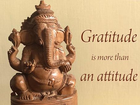 Gratitude is more than an attitude...