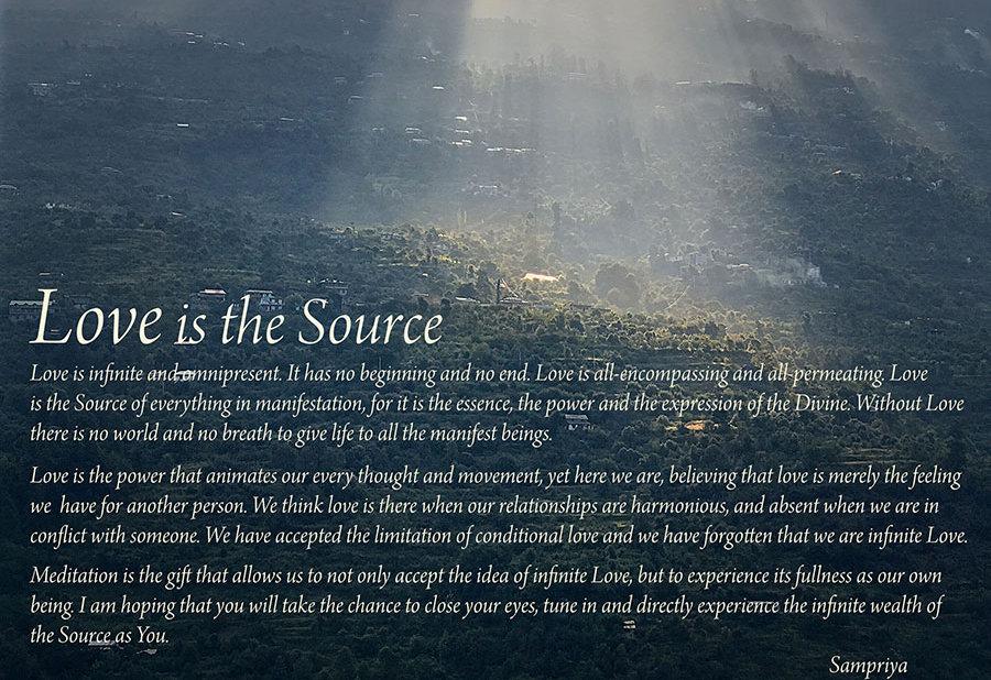 Love is the Source | Sampriya/Marie-Lou Kuhne Millerick | Meditation Mentor and Teacher