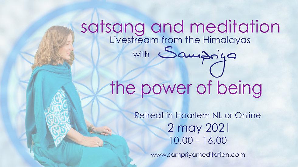 Satsang and Meditation Retreat with Sampriya