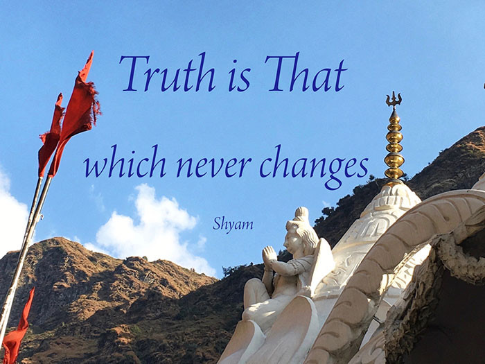 Online Meditation Training-Meditation Quote-Truth is That which never changes