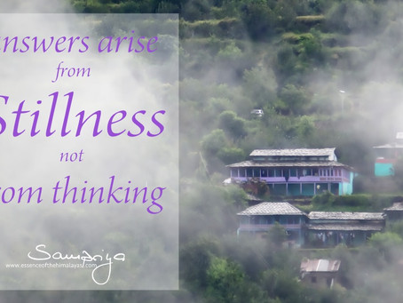 Answers arise from Stillness