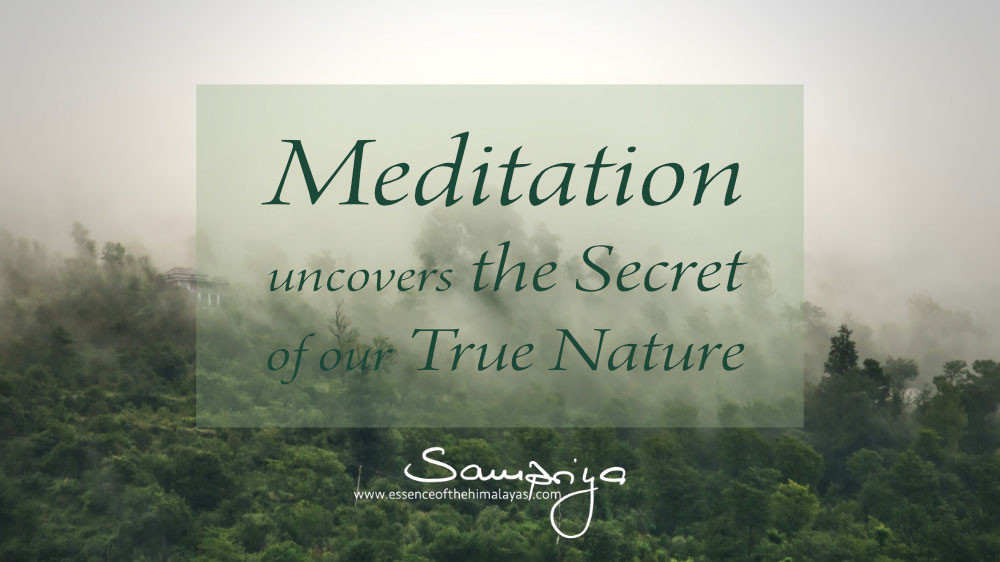 Sampriya's Meditation Quotes - Meditation uncovers the Secret of our True Nature