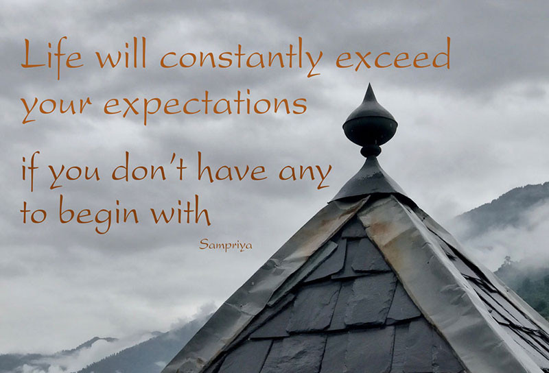 Online Meditation Teacher Training/Meditation Quote: Life will constantly exceed your expectations