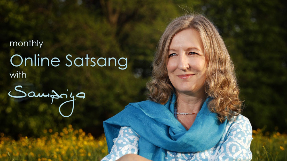 Monthly Online Satsang with Sampriya starts 3/10/19 at 9:00 am EST