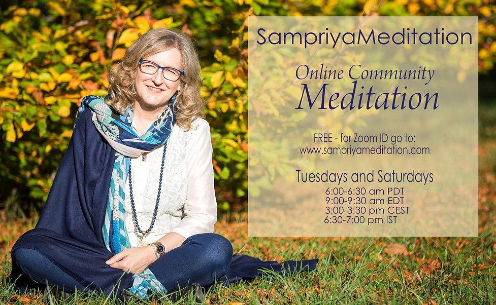 FREE Online Community Meditation with Sampriya