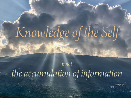 Meditation gives us access to the Knowledge of the Self
