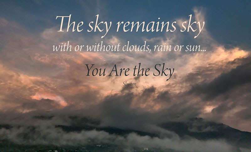 Online Meditation Training/Meditation Quote: You Are the Sky