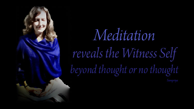 Online Meditation Teacher Training/Meditation Quote:Meditation reveals the Witness Self