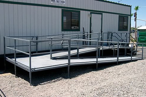 "30"" ADA, SWITCHBACK RAMP WITH STEPS"