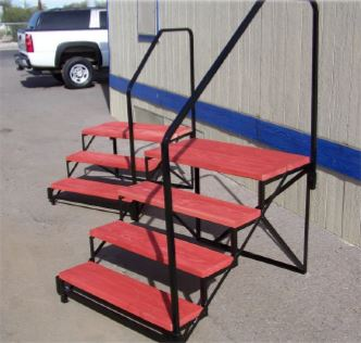 mobile home steps wood