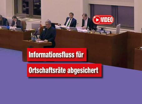 Informationsfluss für Ortschaftsräte abgesichert