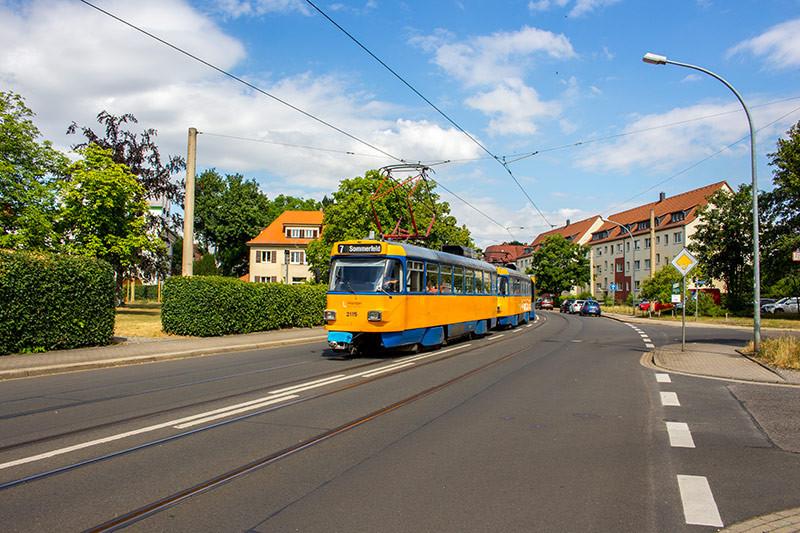 Die LVB planen am Weyrauchplatz eine neue Haltestelle einzurichten.