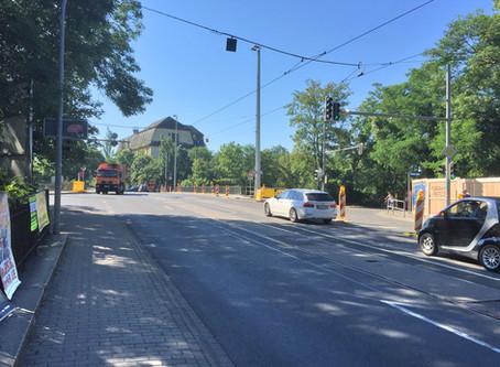 Verkehrseinschränkung wegen Gleisbaus