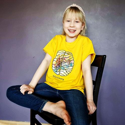 Vaikiški marškinėliai AUKSINĖS SMEGENYS