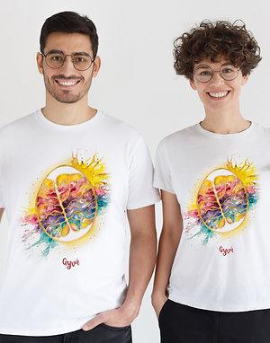Unisex marškinėliai AUKSINĖS SMEGENYS